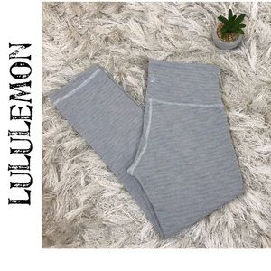 Lululemon Wunder Under Luon Pique Slate Crop III 4